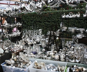 antiques at portabello road in London England