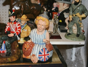 margaret thatcher figureine from portabello road antique market