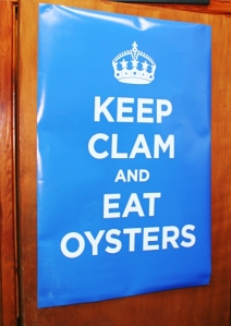 keep calm and eat oysters poster