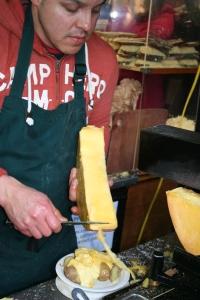 cheese on potatoes
