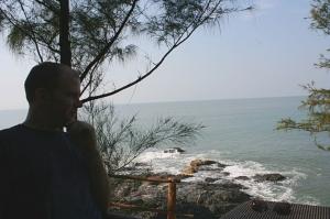 shantidham cafe om beach gokarna karnataka india travel