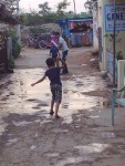 children cricket hampi india streets