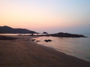 sunrise om beach gokarna karnataka india travel