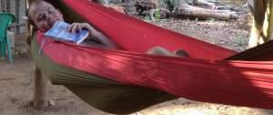 hammock relax om beach gokarna karntaka india