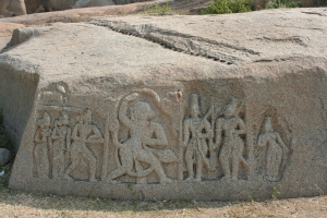 stone carving hampi india
