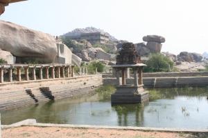 ruins in hampi india