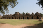elephant stables hampi india