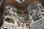 stone carvings temple halebid karnataka india