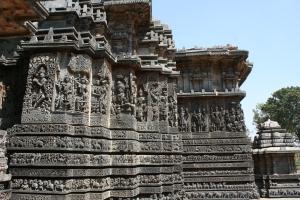 stone temple halebid karnataka india travel