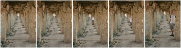 hampi market ruins india