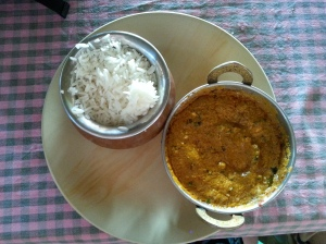 butter chicken rice indian food