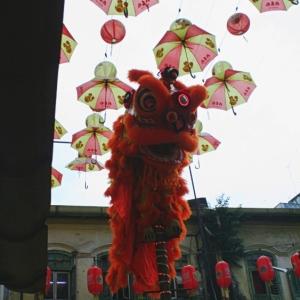 lion dance chinese new year chinatown kuala lumpur malaysia
