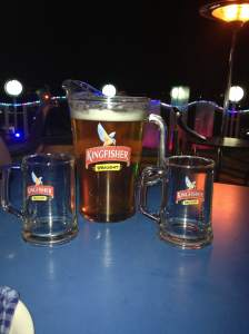 pitcher of king fisher beer