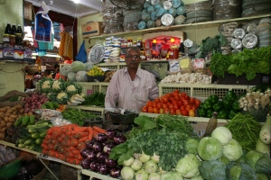 vegetable market stall goa india