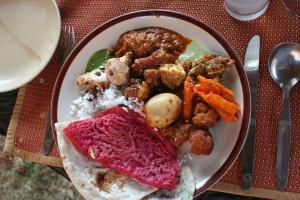buffet lunch food