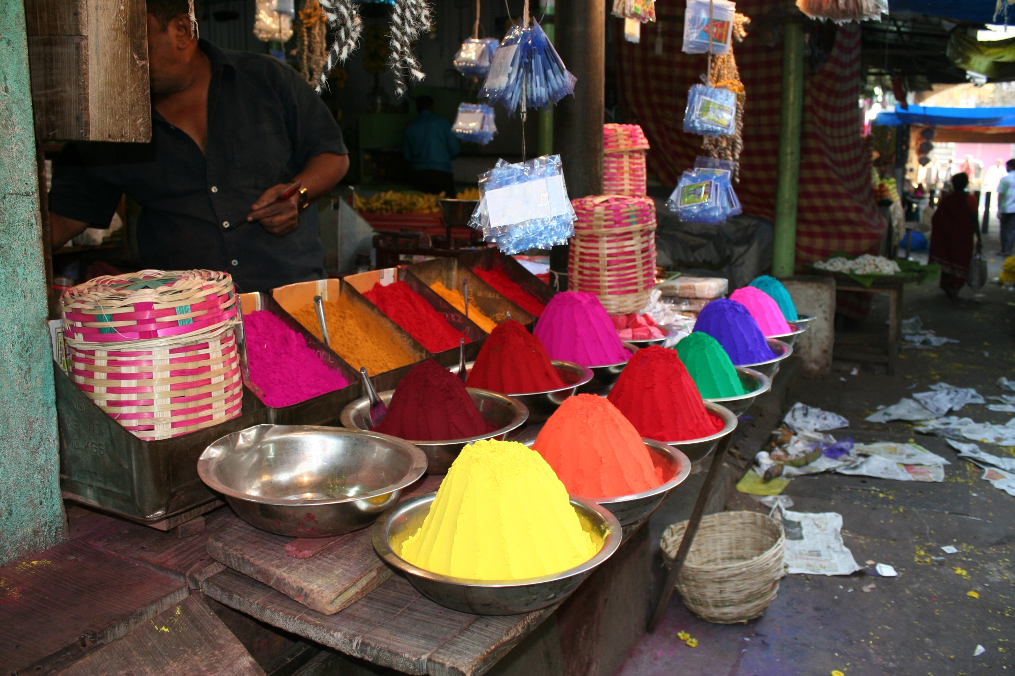 colour mysore market india travel