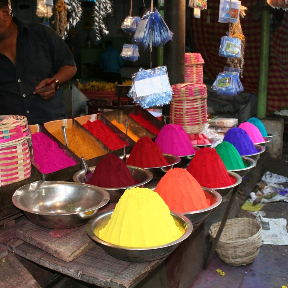 colour mysore market india travel