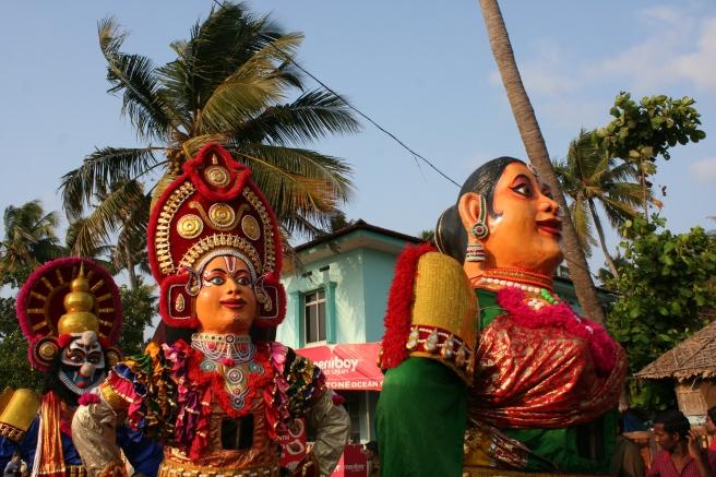 hindu parade masks kerala india