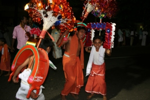 children hindu festival parade kochi kerala india