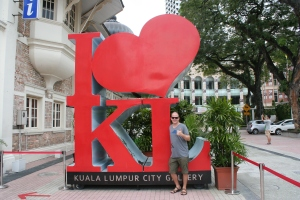 i heart kl statue kuala lumpur malaysia