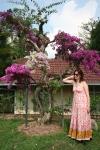 girl in garden flowers kuala lumpur malaysia