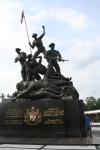 malaysia national monument kuala lumpur travel statue
