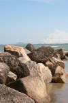 rocks beach water cherating malaysia