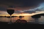 wine sunglasses sunset kota kinabalu malaysia travel