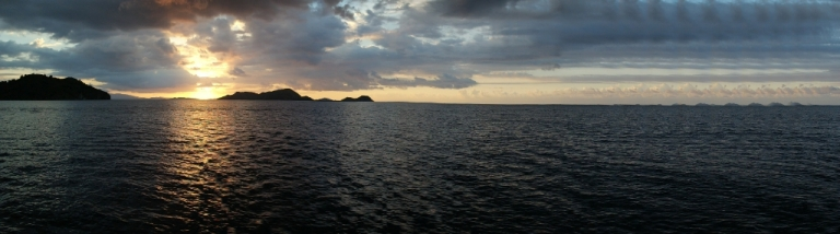sunset indonesia travel panorama photo