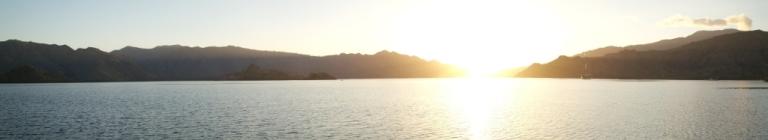 komodo island sunset indonesia travel