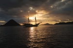 sunset boat indonesia