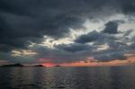 sunset sea ocean indonesia