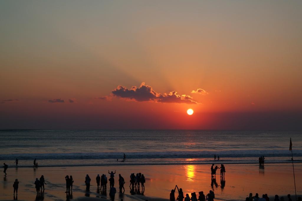 sunset beach kuta bali indonesia travel