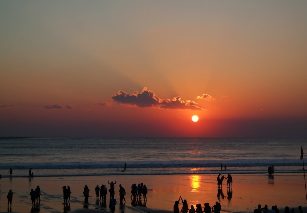 sunset beach kuta bali indonesia travel
