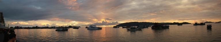 sunset borneo malaysia