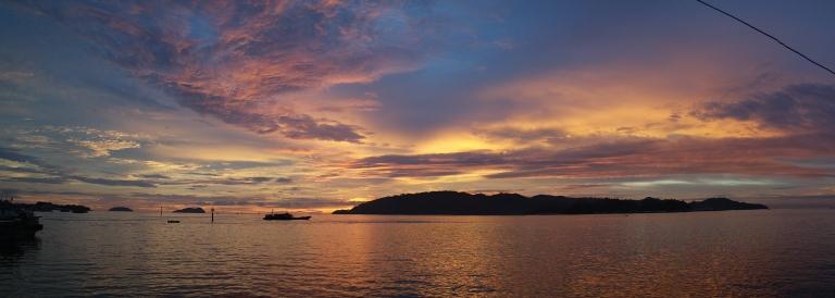 sunset kota kinabalu borneo malaysia