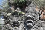 travel Ubud Bali Indonesia stone statues