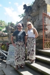 travel Ubud Bali Indonesia temple sarongs