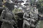 travel Ubud Bali Indonesia Gunung Lebah Temple fountain statues