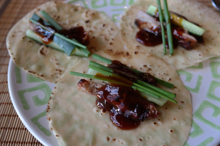 peking duck ginger moon restaurant seminyak bali indonesia food travel