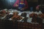 krabi town night market thailand travel meat