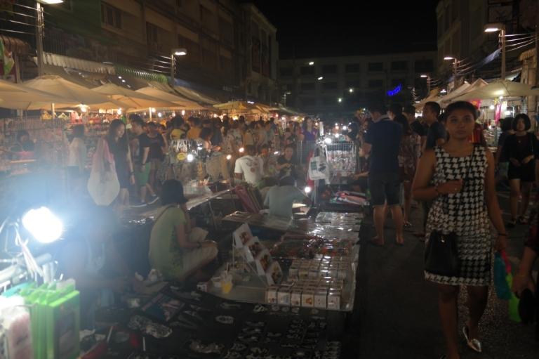 krabi town night market thailand travel
