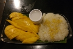 krabi town thailand food mango with sticky rice