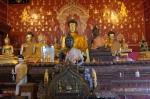 buddha statue buddhist temple Chiang Mai Thailand travel