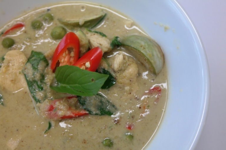 green curry thai food