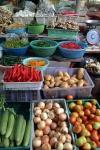 food vegetables wet market bangkok thailand travel food