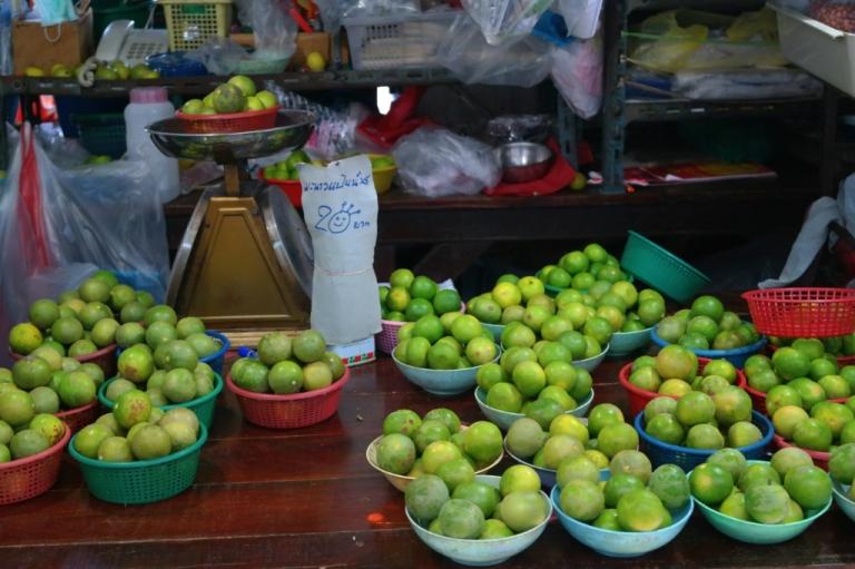 limes wet market bangkok thailand