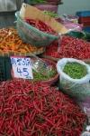 chilies wet market bangkok thailand